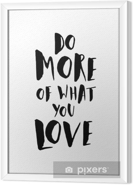 Ingelijst Canvas Quote Motivatie Poster - Grafische Bronnen