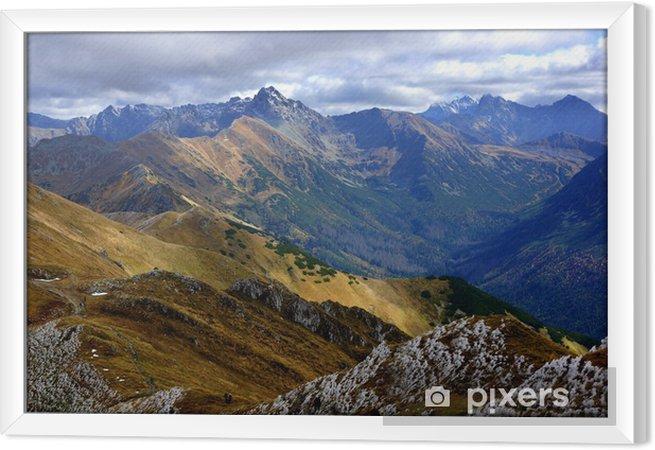 Ingelijst Canvas Red Mountain Peaks, Tatra gebergte in Polen - Thema's