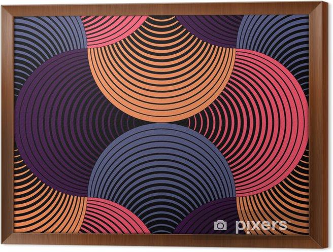 Ingelijst Canvas Sierlijke Geometrische Bloemblaadjes Grid, Abstract Vector Naadloos Patroon - Thema's