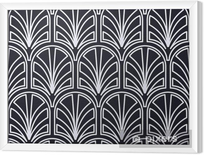 Ingelijst Canvas Vintage naadloze art deco-patroon. sjabloon voor ontwerp. vectorillustratie - Grafische Bronnen