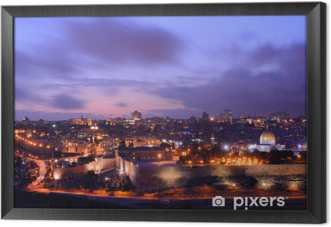 Innrammet lerret Jerusalem Skyline - Midtøsten