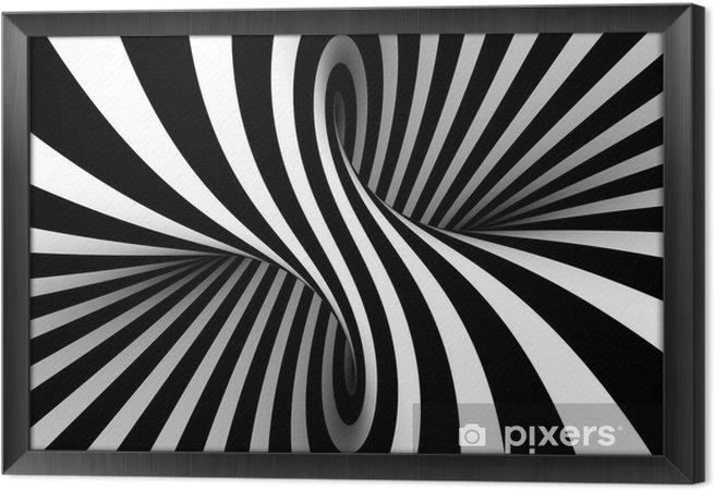 Innrammet lerret Svart og hvitt abstrakt -