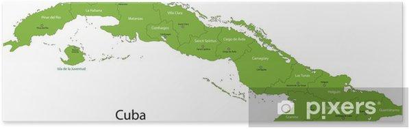 Kuuban Kartta Itsestaankiinnittyva Juliste Pixers Elamme