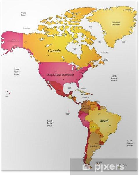 Amerikan Kartta Juliste Pixers Elamme Muutoksille