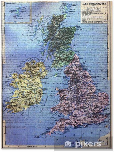 Britannian Saariston Kartta Juliste Pixers Elamme Muutoksille