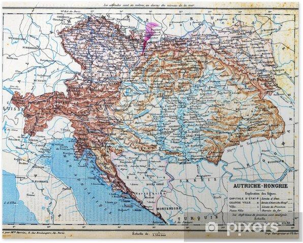 Itavalta Unkari Kartta Juliste Pixers Elamme Muutoksille