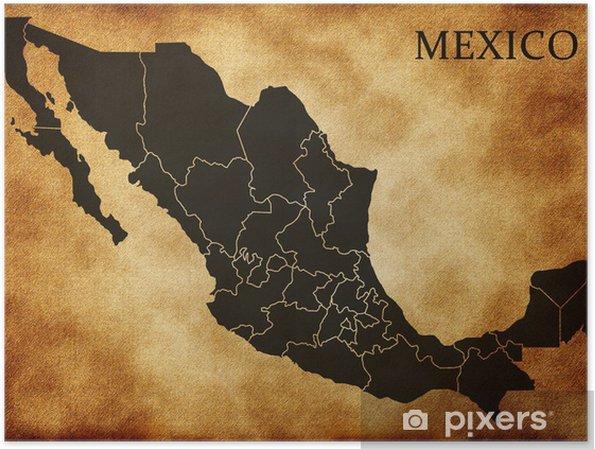 Kartta Mexico Juliste Pixers Elamme Muutoksille
