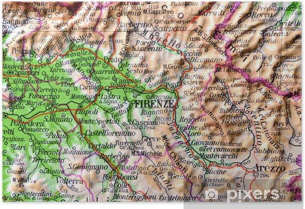 Kartta Toscana Firenze Juliste Pixers Elamme Muutoksille