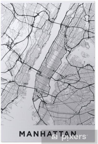 Kevyt Manhattan New York Kartta Manhattan Nyc Kartta