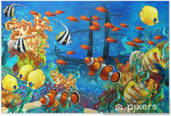 Koralliriutta - kuva lapsille Juliste - Coral reef