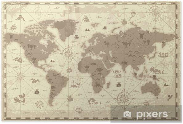 Muinainen maailmankartta Juliste - Themes