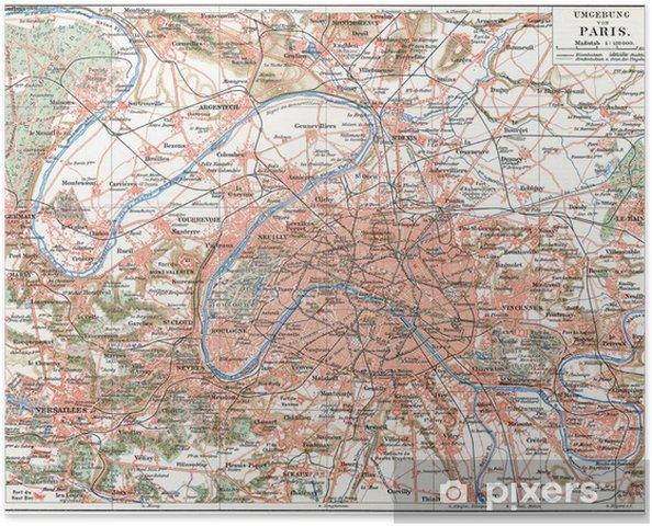 Pariisin Ja Lahioiden Kartta Juliste Pixers Elamme Muutoksille