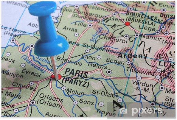Pariisin Kartta Juliste Pixers Elamme Muutoksille