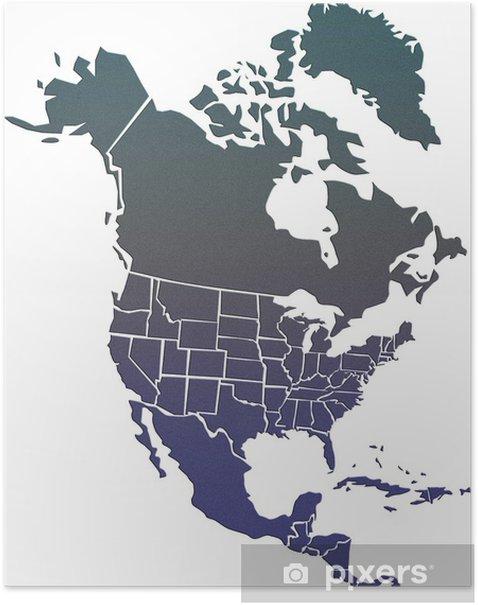 Pohjois Amerikan Kartta Juliste Pixers Elamme Muutoksille