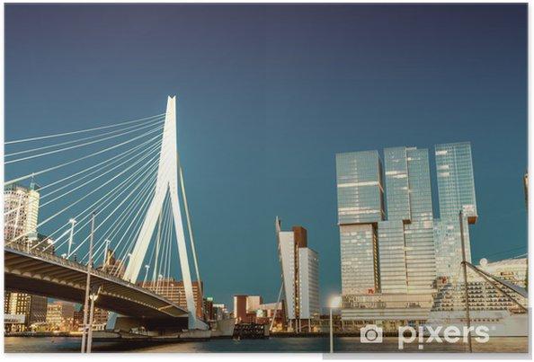Rotterdamin horisontti erasmus silta Juliste -