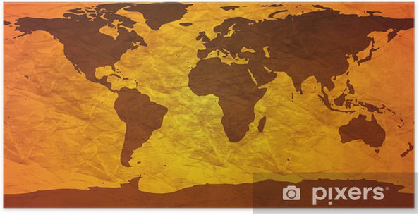 Rypistynyt maailman kartta Juliste - Themes