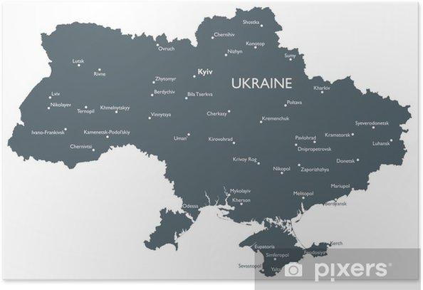 Ukrainan Kartta Juliste Pixers Elamme Muutoksille