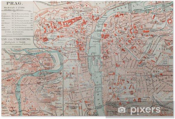 Vanha Kartta Prahan Juliste Pixers Elamme Muutoksille