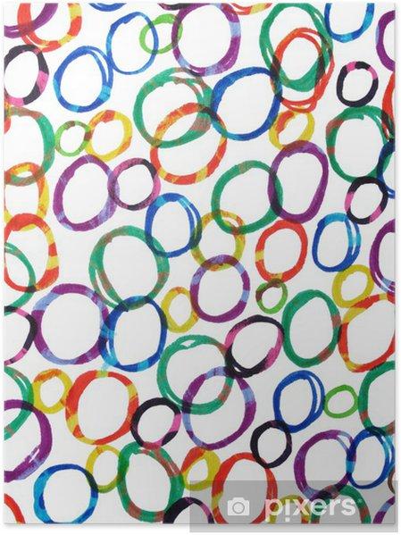 uusi luettelo ilmainen toimitus 100% laatu Värikäs huopa kärki kynä vetää piireissä. Juliste