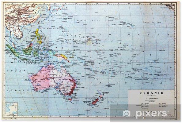 Varikas Kartta Oceania Juliste Pixers Elamme Muutoksille