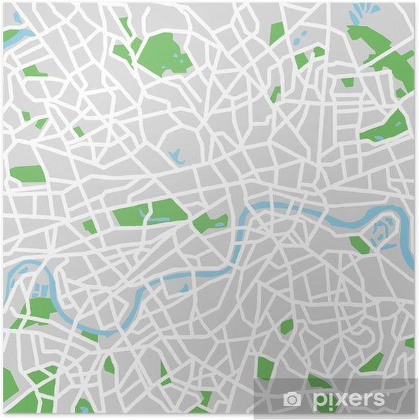 Vektori Kartta London Juliste Pixers Elamme Muutoksille
