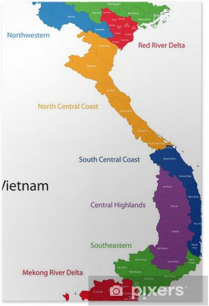 Vietnam Kartta Juliste Pixers Elamme Muutoksille