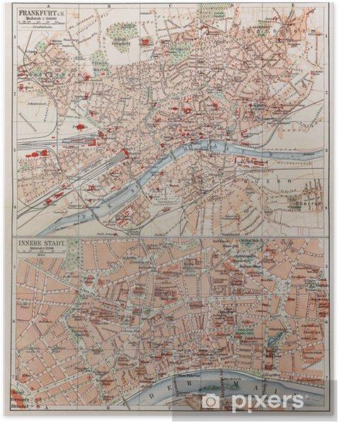 Vuosikerta Kartta Frankfurt Juliste Pixers Elamme Muutoksille