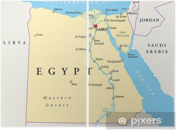 Egyptin Kartta Agypten Landkarte Kaksiosainen Pixers Elamme