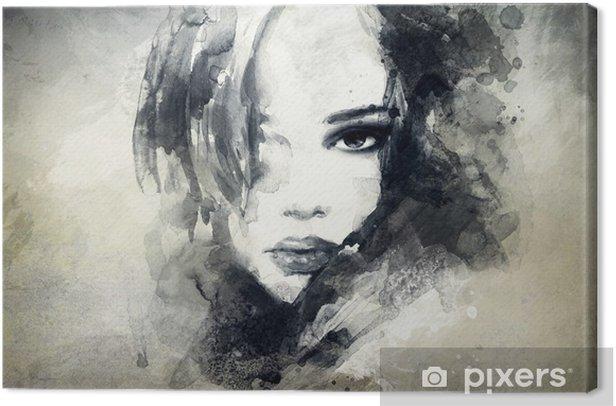Abstrakti nainen muotokuva Kangaskuva -