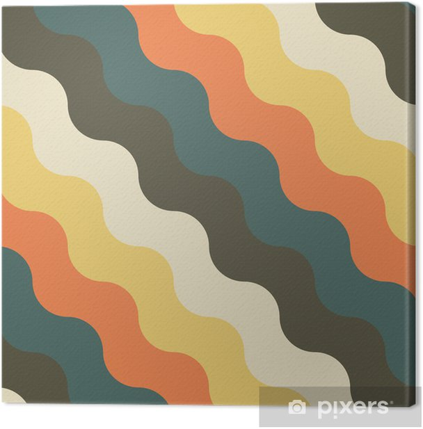Abstrakti retro geometrinen kuvio Kangaskuva - Taustat