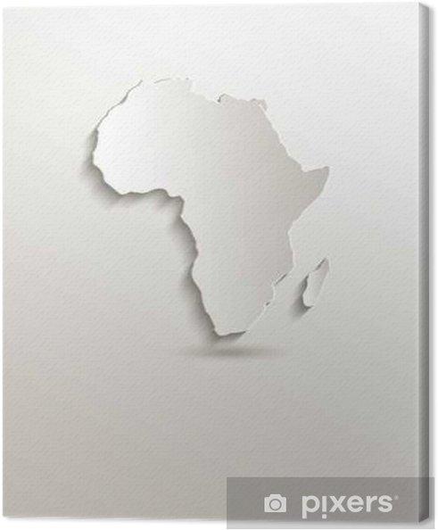 Afrikka Kartta Kortti Paperissa 3d Tyhja Kangaskuva Pixers