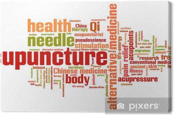 Akupunktio vaihtoehtoinen lääketiede - sana pilvi kuva Kangaskuva - Kyltit  Ja Symbolit dedc0b30e0