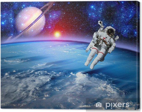 Astronautti avaruusmatka ulkoavaruudessa Kangaskuva - Planets