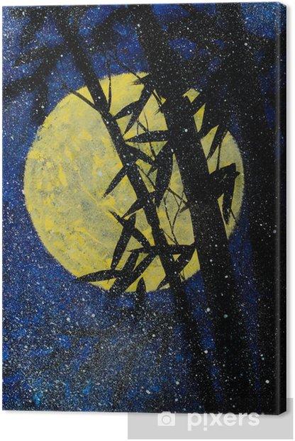 Bambu yö ja kuu Kangaskuva - Maisemat