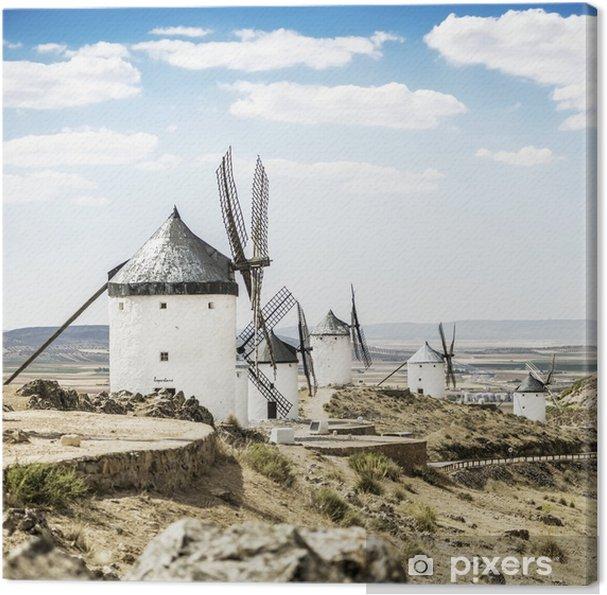 Consuegran tuulimyllyt toledo provinssissa, espanja Kangaskuva - Mills and windmills