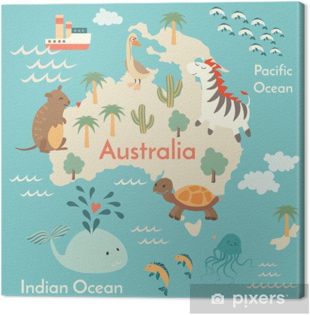 Elainten Maailman Kartta Australia Vektori Kuva Esikoulu Vauva
