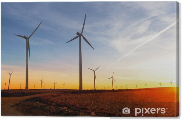 Energias renewables. parque eolico. turbinas de viento Kangaskuva - Mills and windmills