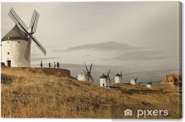 Espanjan tuulimyllyt - consuegra Kangaskuva - Mills and windmills