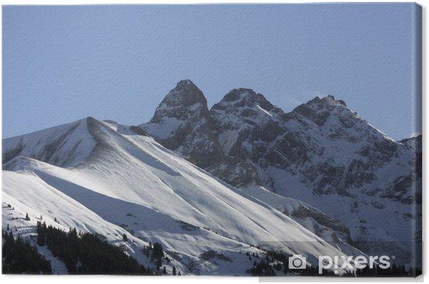 Gipfel in den allgäuer alpen - mädlegabel Kangaskuva - Eurooppa