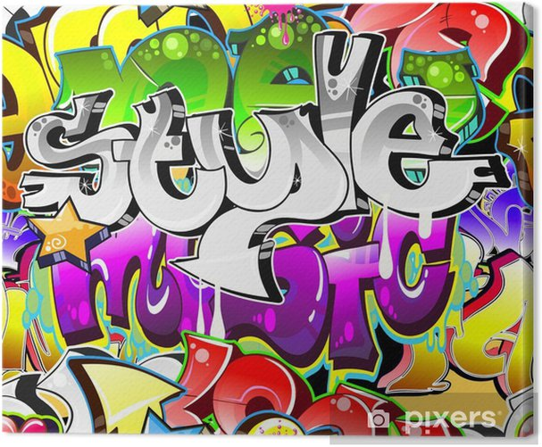 Graffiti kaupunkitaidetta taustalla. saumaton muotoilu Kangaskuva -