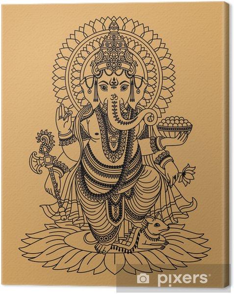 Intialainen jumala Ganesha Kangaskuva -
