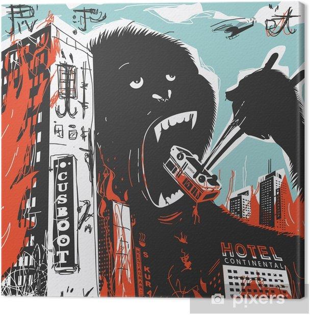 Iso gorilla tuhoaa kaupungin Kangaskuva - Eläimet