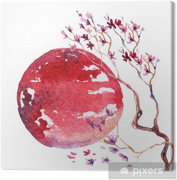 Japan kirsikankukka. Kangaskuva - Matkailu