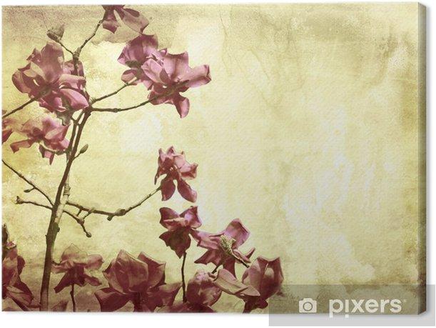 Kaunis grunge tausta magnolia Kangaskuva - Restaurant