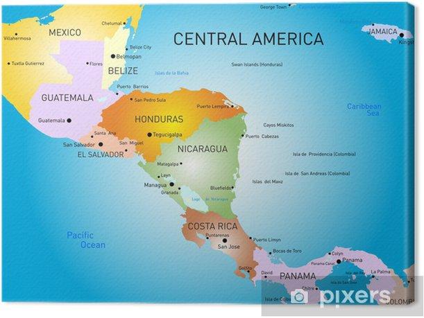 Keski Amerikan Kartta Kangaskuva Pixers Elamme Muutoksille