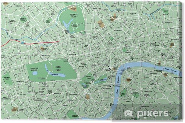 Keskusta London Kartta Kangaskuva Pixers Elamme Muutoksille