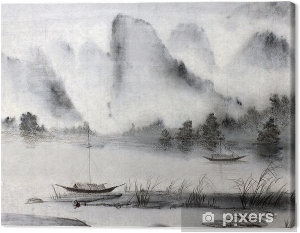 Kiinalainen maalaus Kangaskuva - Harrastukset Ja Vapaa-Aika