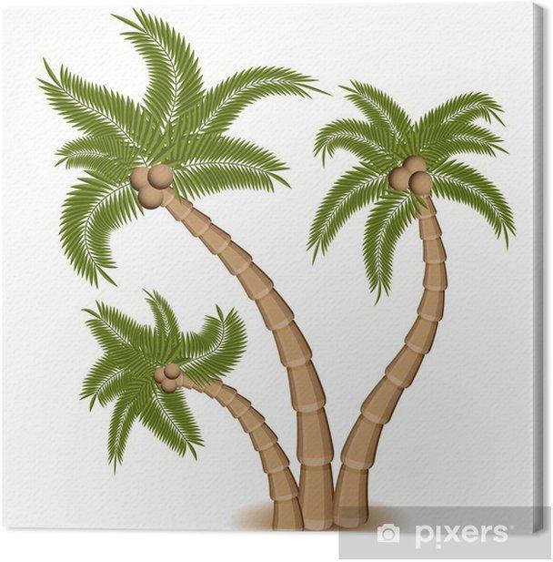 Kolme palmupuuta Kangaskuva - Seinätarra