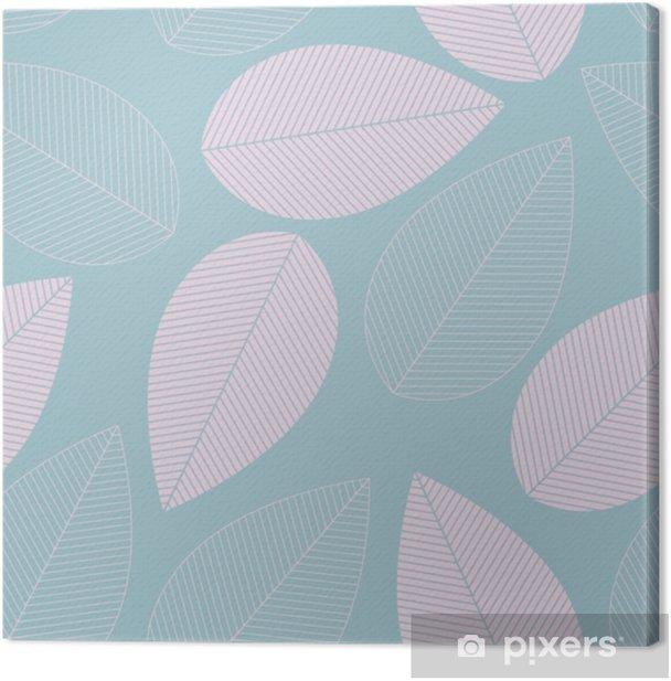 Lehti saumaton malli sininen ja vaaleanpunainen väri. Kangaskuva - Graafiset Resurssit