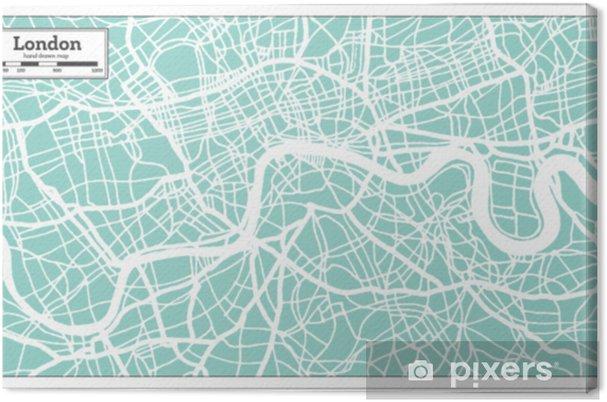 Lontoo Englanti Kaupungin Kartta Retro Tyyliin Aariviivakartta
